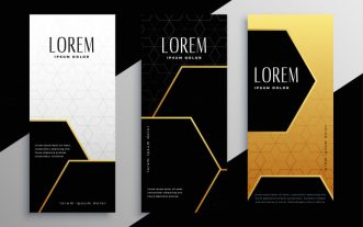 golden vertical cards